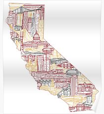 San Francisco Skyline Cityscape Art Poster