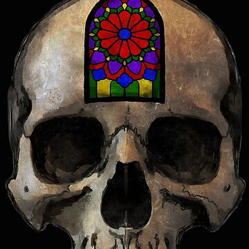 Stained Window Skull by ShayneoftheDead