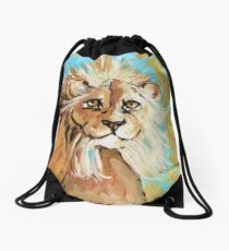 Expressionistic Lion Drawstring Bag
