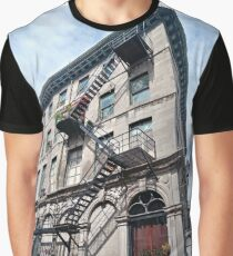 #FireEscape #pompier #PompierLadder #ScalingLadder Montreal #Montreal #City #MontrealCity #Canada #buildings #streets #places #views #building #architecture #windows #sculptures #door #entry Graphic T-Shirt
