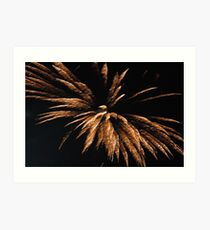 fireworks again tonight at the show Art Print