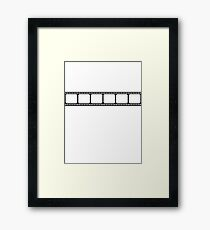 Film strip Framed Print