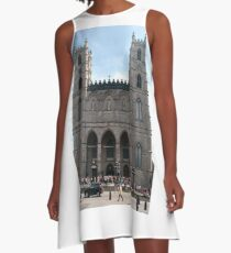 Notre-Dame Basilica, #NotreDameBasilica, #NotreDame, #Basilica, Montreal, #Montreal #City, #MontrealCity, #Canada, #buildings, #streets, #places, #tourists, #architecture, #monuments, #Cathedral A-Line Dress