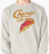 Chicago Style Deep Dish Pizza Pullover Sweatshirt