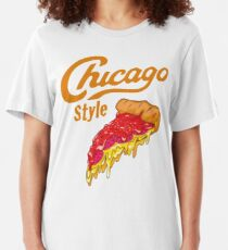 Chicago Style Deep Dish Pizza Slim Fit T-Shirt