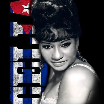 Celia Cruz Cuba Flag by LeoZitro