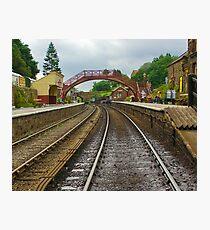 Foot Bridge at Goathland Station Photographic Print