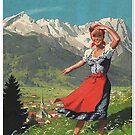 Garmisch Partenkirchen... vintage tourist poster by edsimoneit