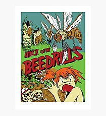 Attack of the Bedrills Photographic Print