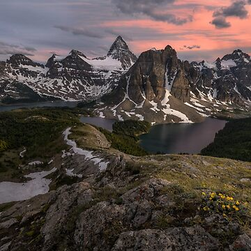 Sunset at Mount Assiniboine, Canada by mattmacpherson