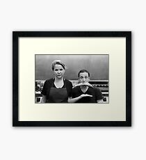 Chef and her fishmongrel Framed Print