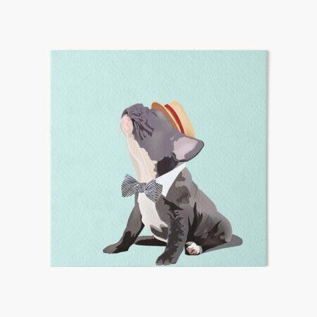 Sweet Frenchie: Singing French Bulldog Art Board Print