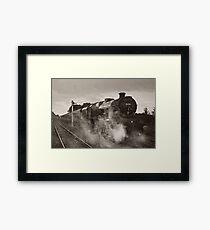 'Leander' at Hellifield station Framed Print