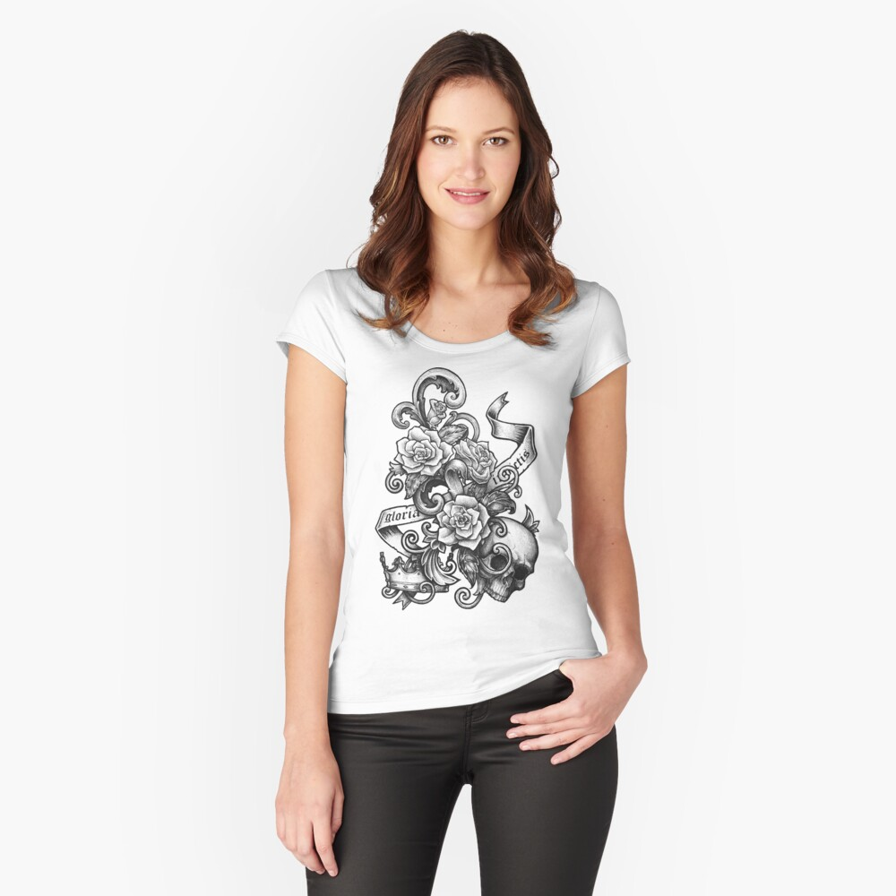 Gloria Invictis Women's Fitted Scoop T-Shirt Front