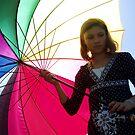 Girl Under a Rainbow by LouJay