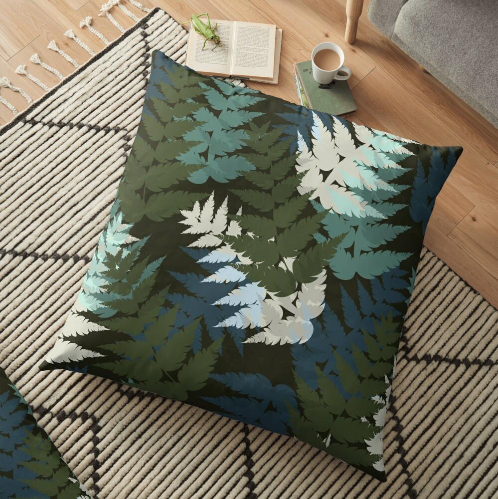 Silver Fern Floor Pillow