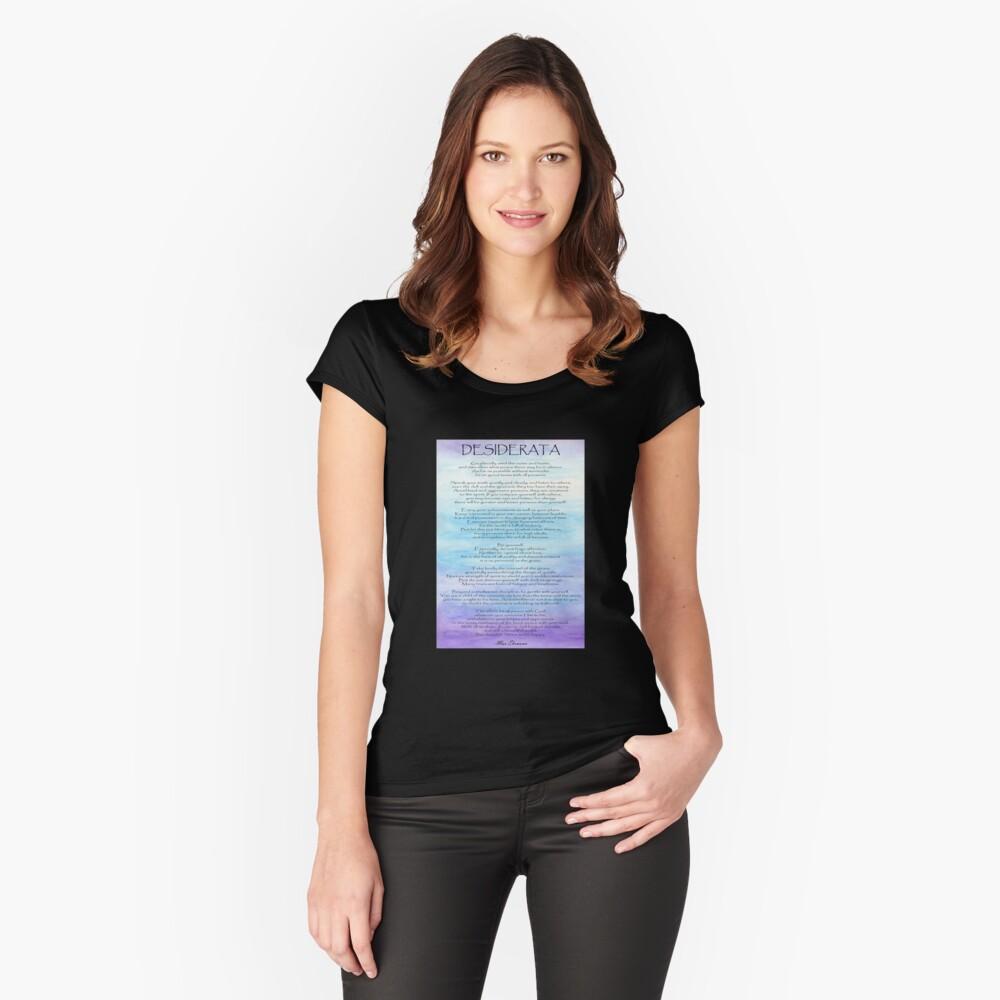 Desiderata Tailliertes Rundhals-Shirt
