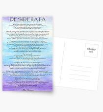 Desiderata Postcards