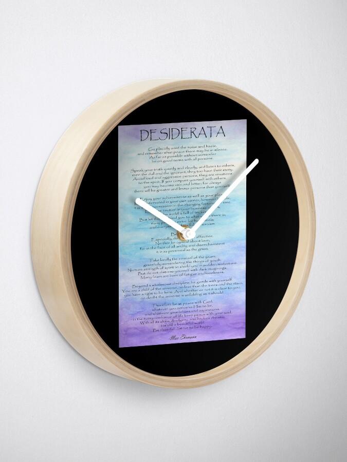 Alternative Ansicht von Desiderata Uhr