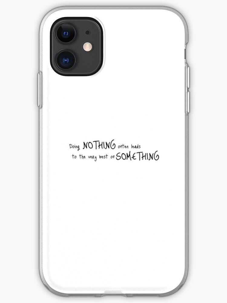Winnie The Pooh Quote iphone case