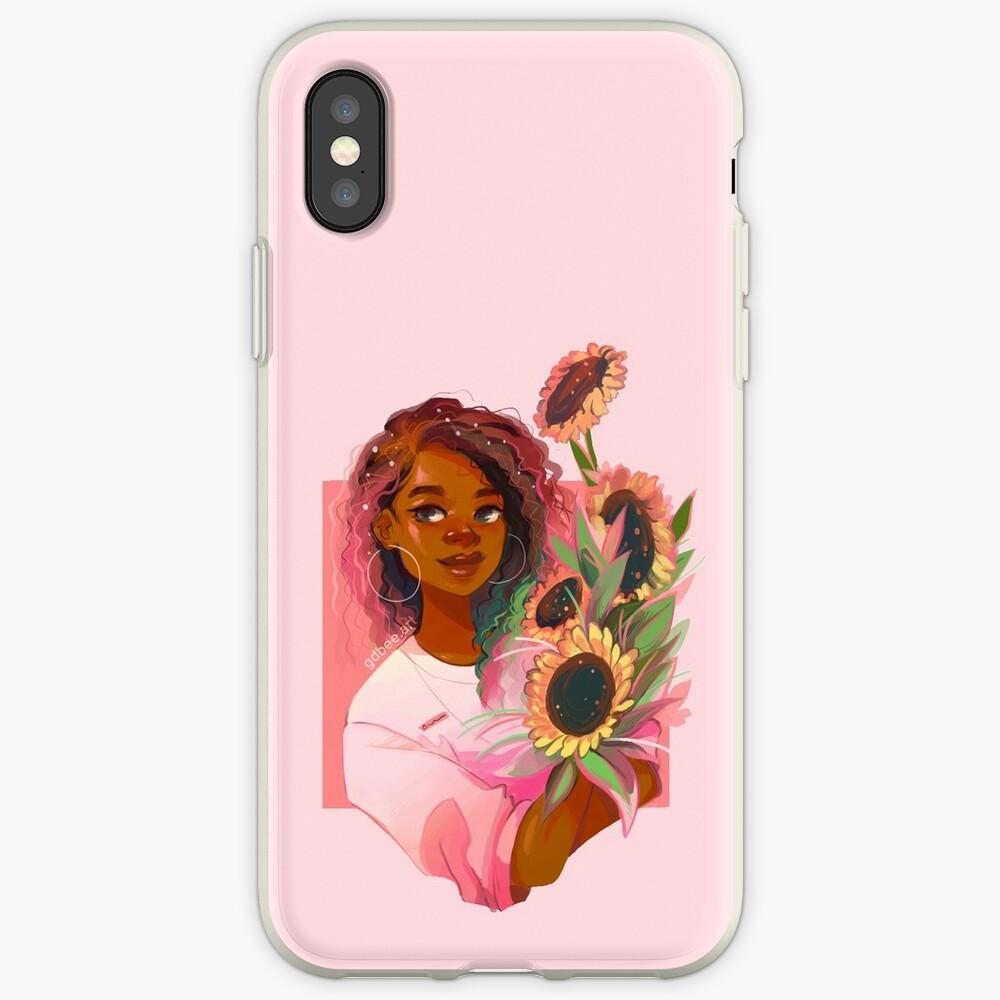 Girasoles rosas Funda y vinilo para iPhone