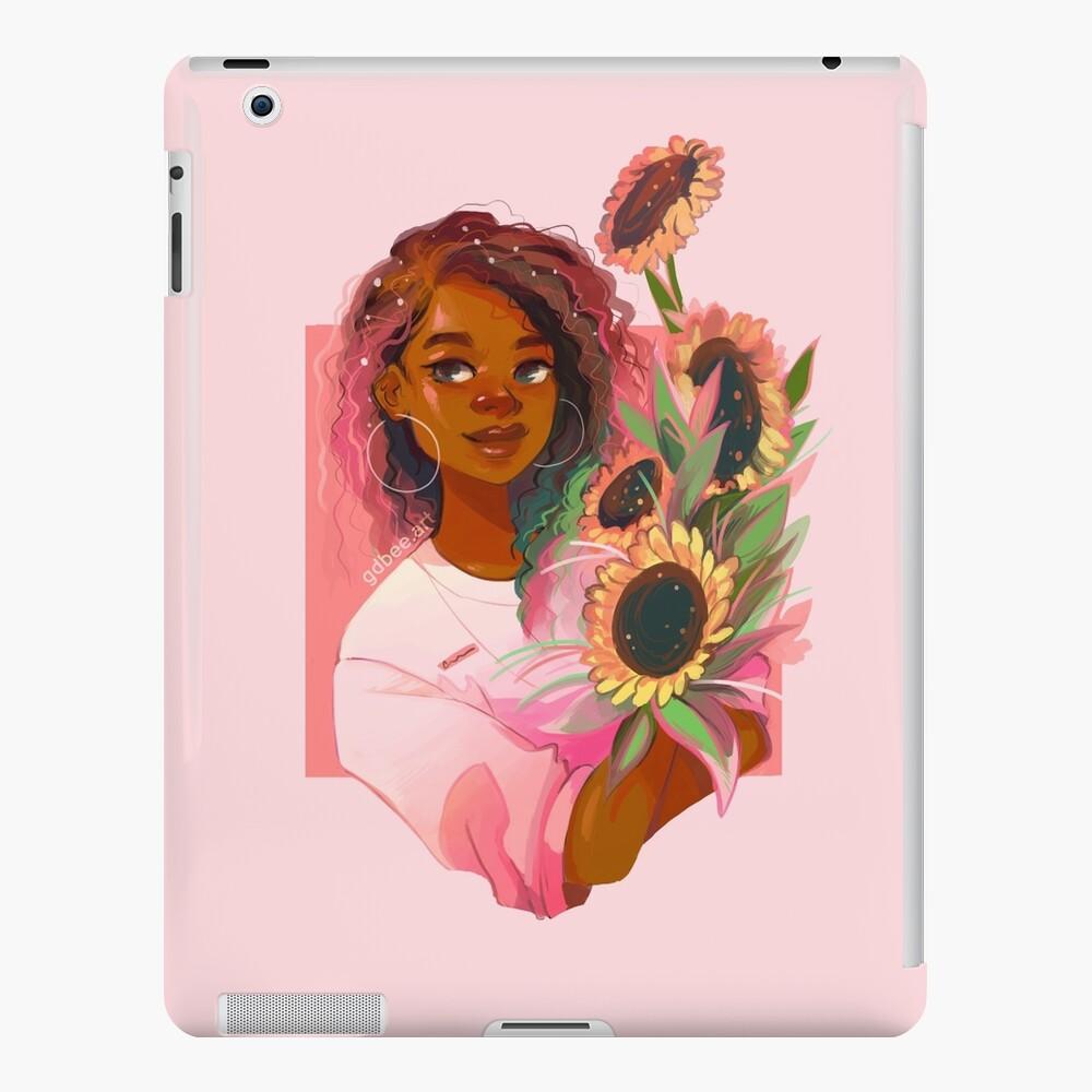 Girasoles rosas Funda y vinilo para iPad