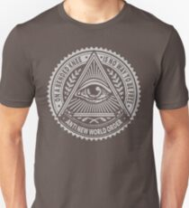 Anti New World order - On A Bended Knee Is No Way To Be Free T-Shirt