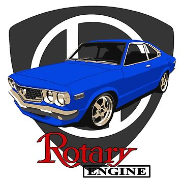 Mazda RX3 Rotary Blue by harrisonformula