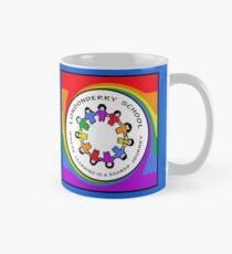 Londonderry Original Logo with Rainbow Swirl Mug