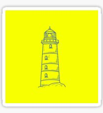 Lighthouse Yellow Sticker