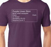 Purple Linen Shirt Unisex T-Shirt