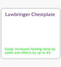 Lawbringer Chestplate Sticker