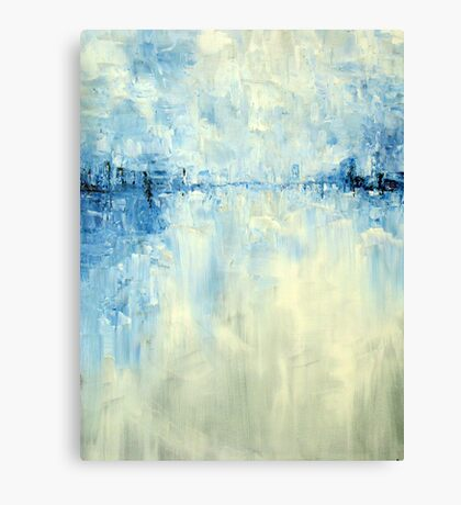 Cold #1 Abstract Landscape Canvas Print