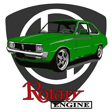 Mazda R100 Rotary Lime by harrisonformula