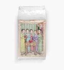 Jane Austen - The Bennet Sisters Go Bonnet Shopping Duvet Cover