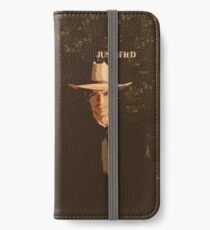 Justified - Raylan Givens iPhone Flip-Case/Hülle/Klebefolie