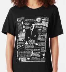 The Wise Words of Michael Scott Slim Fit T-Shirt