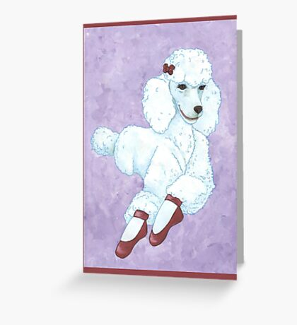 Pavlova Poodle Greeting Card