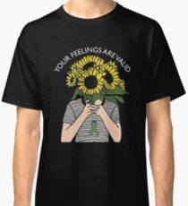 Your Feelings Are Valid Sunflower Mental Health Awareness Shirt Classic T-Shirt