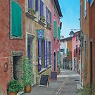 Sunshine and Shadow, Roussillon France by Freda Surgenor