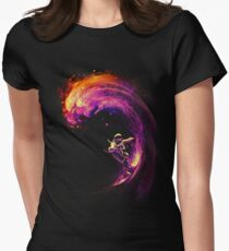 Space Surfing Women's Fitted T-Shirt