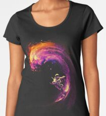 Space Surfing Women's Premium T-Shirt