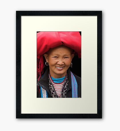 Red Dzao Woman - Sapa, Vietnam Framed Print