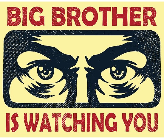 Image result for big brother is watching you poster