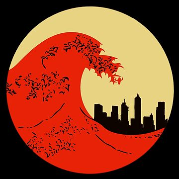 Tsunami City | The Great Wave  by House-of-Roc