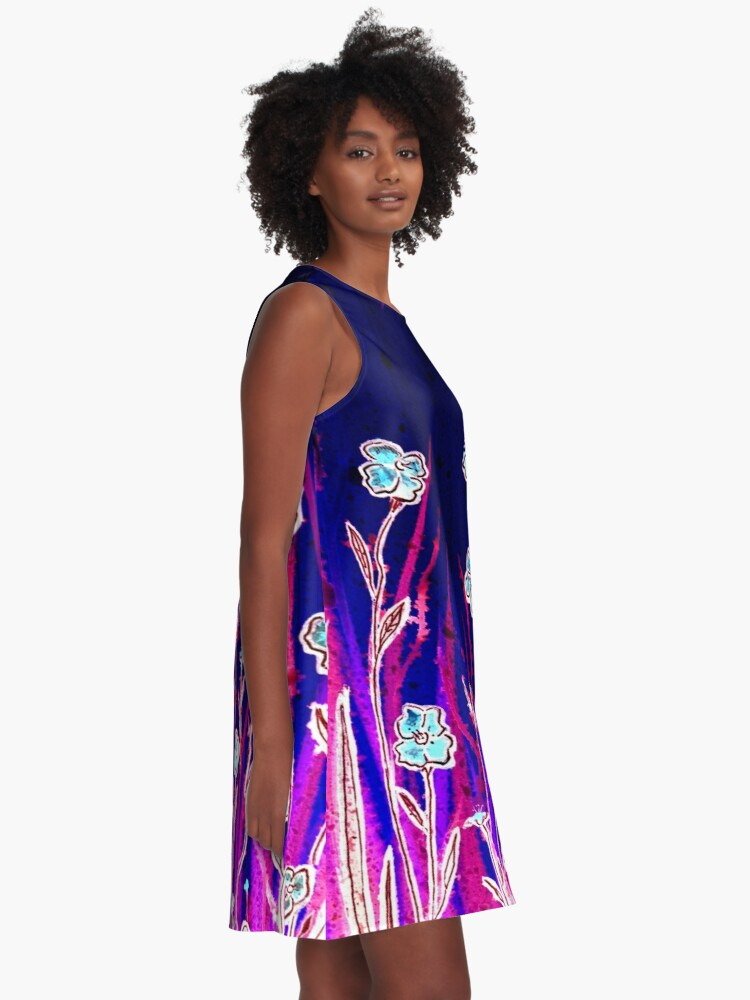 Alternate view of Growing Together - Flowers A-Line Dress