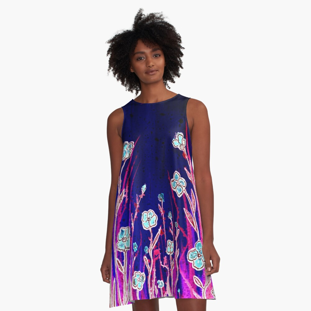 Growing Together - Flowers A-Line Dress