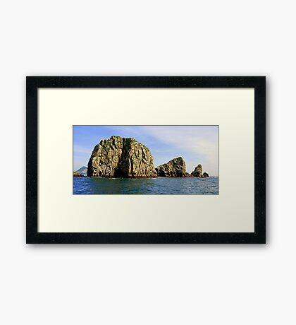 The Chiswells, Kenai Fjords National Park Framed Print