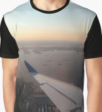Flight, #flight, view, #view, New York, #NewYork, New York City, #NewYorkCity Graphic T-Shirt