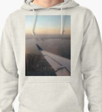 Flight, #flight, view, #view, New York, #NewYork, New York City, #NewYorkCity Pullover Hoodie